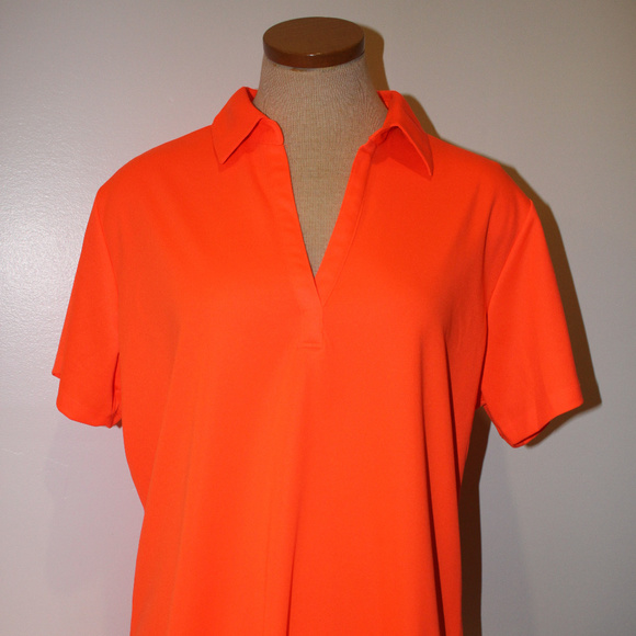 Port Authority Tops - Port Authority Woman's Bright Pumpkin Neon Orange